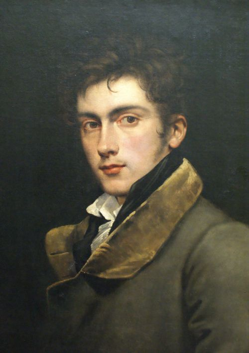 Self-Portrait ~ Carl Joseph Begas (1794-1854), was a German historical painter who produced paintings that were placed in the churches of Berlin and Potsdam.  Begas was also celebrated as a portrait-painter, and supplied to the royal gallery a long series of portraits of eminent Prussian men of letters.  At his death he held the post of court painter at Berlin.: