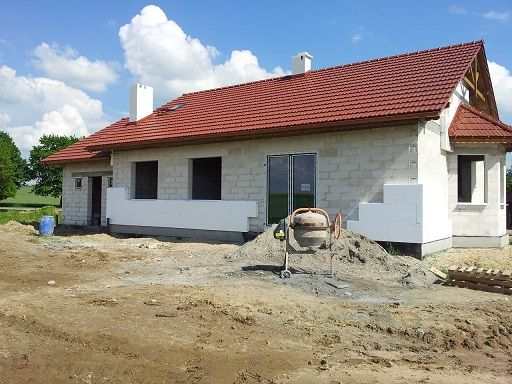 Projekt domu widok z ogrodu  #dom #projekt #budowa