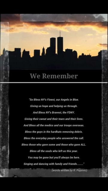 Today marks the 15th anniversary of the World Trade Center attacks. 15 years has…