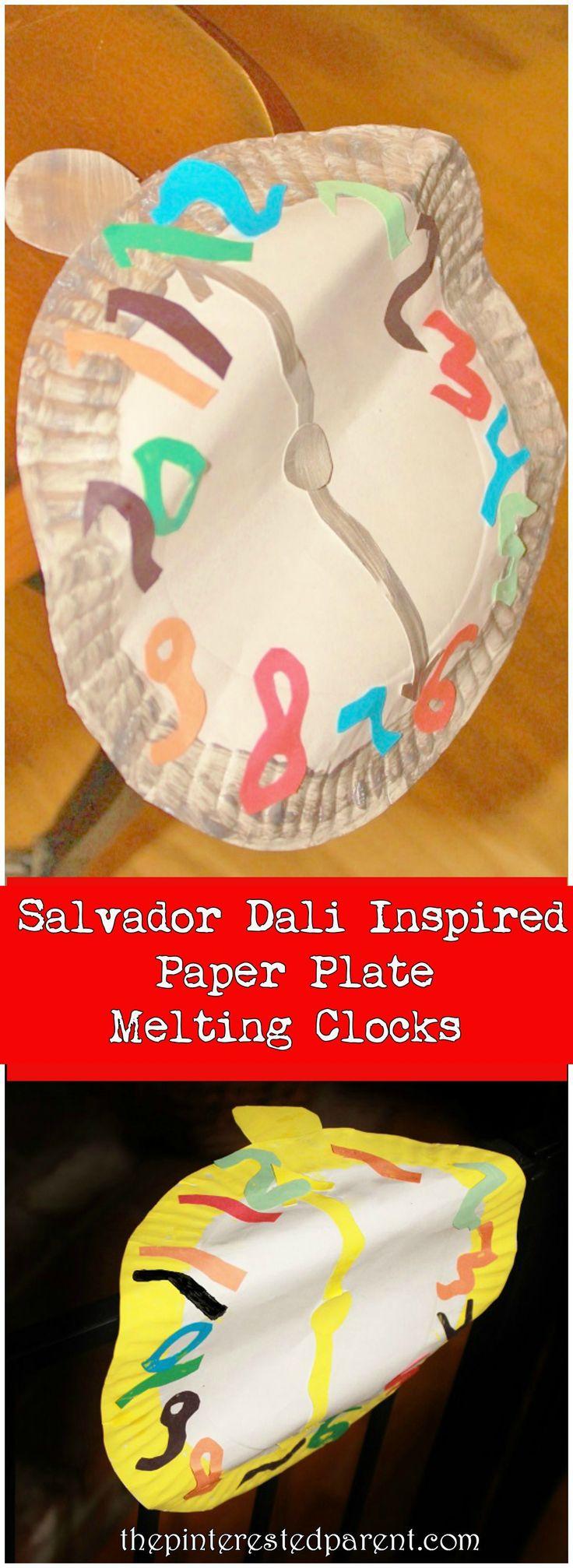 Salvador Dali Inspired Paper Plate Melting Clocks