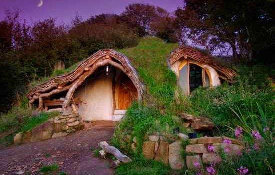 Case din lemn, unice.