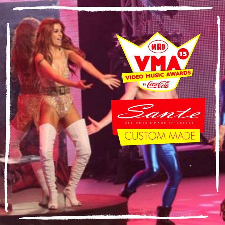 Eleni Foureira in SANTE Custom Made at Mad Video Music Awards 2015 #‎madvma15‬ by ‪#‎cocacola‬ #SanteCustom