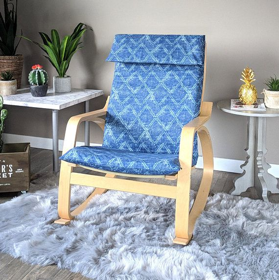 Blue Replacement Cover For Child S Poang Ikea Chair Featuring