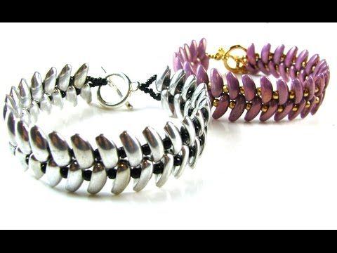 Slinky Bracelet Tutorial using Preciosa Chilli Beads, 8/0 Seed Beads, a clasp and Fireline beading thread ~ Seed Bead Tutorials