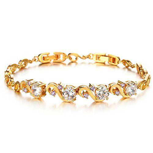 Virgin Shine Gold Plated Rhinestones Swans Shape Bracelet VIRGIN SHINE http://www.amazon.com/dp/B00NUE1U9S/ref=cm_sw_r_pi_dp_ce.Rub1SR5104