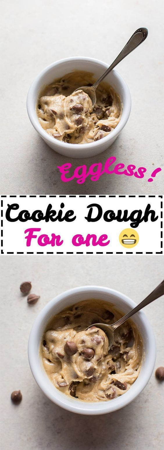 My guilt-free eggless chocolate chip cookie dough for one is the perfect portion-controlled treat. Ready in only 5 minutes!