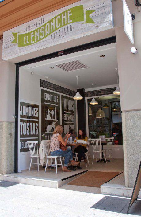 fachada-diseño-proyecto decoracion-hosteleria-interiorista especialista contract coruña-oss diseño-oscar santome-jamoneria delicatessen-rosa...
