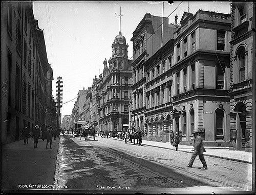 Pitt Street, Sydney, looking south | Format: Glass plate neg… | Flickr