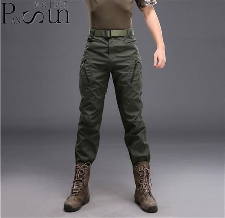 Men Classic Army Green Cargo Pants Warm Patchwork Pants Cotton Trousers For Male Military Camouflage Tactical Micro Elasticity