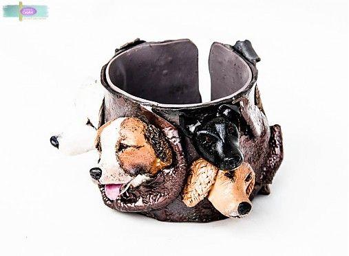 CuteArt / Široký náramok s hlavičkou - podľa fotografie Bracelet made according to a photo of your pets..