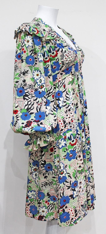 Rare Ossie Clark 'Pretty Woman' marocain dress with Celia Birtwell print, 1970s image 3