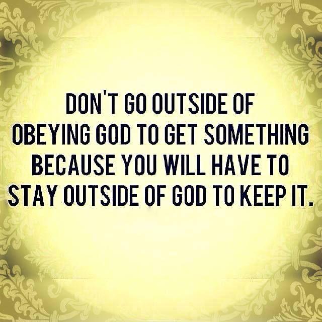 Stay with God always.: