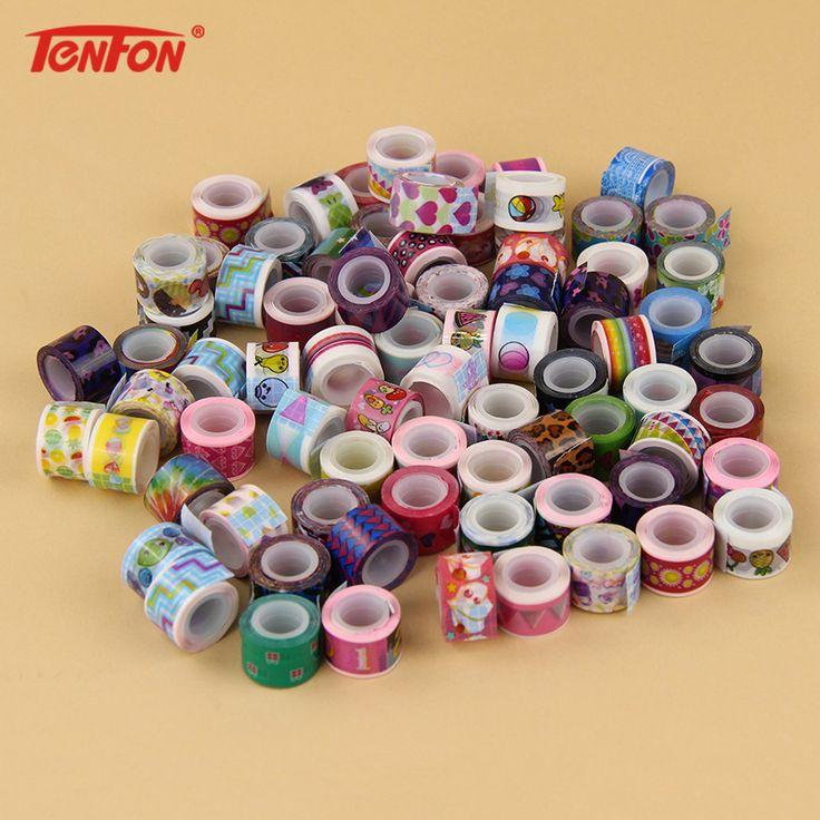 20 PCS/Lot Mini Color Tapes DIY Decorative Adhesive Tape Sticker Cartoon Diary Lace Tape Cinta Adhesive