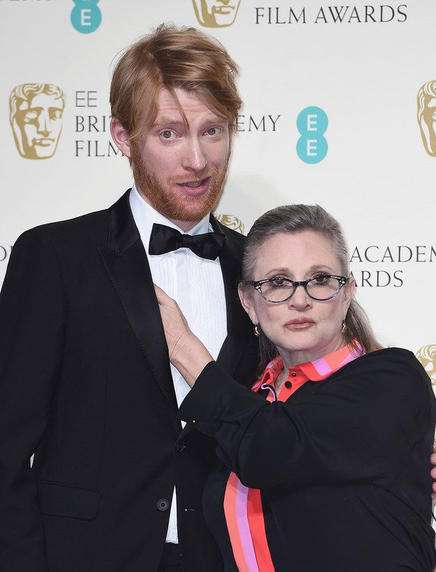 Like, seriously. | Carrie Fisher And Domhnall Gleeson Totally Stole The Show Backstage At The BAFTAs