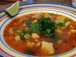 "Pozole, Pozole, which means ""foamy""; variant spellings: pozolé, pozolli,or more commonly in the U.S. - posole is a traditional pre-Columbian soup or stew from Mexico, which once had ritual significance."