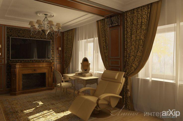 Дизайн спальни в коттедже: интерьер, квартира, дом, спальня, эклектика, 30 - 50 м2 #interiordesign #apartment #house #bedroom #dormitory #bedchamber #dorm #roost #eclectic #30_50m2 arXip.com
