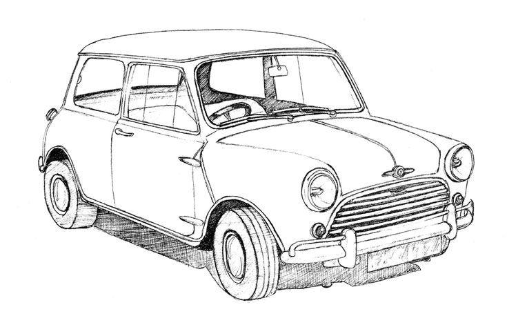 Cartoon Picture Mini Car Latest Car Model Cars Mini Cooper Dibujos A Tinta Mini