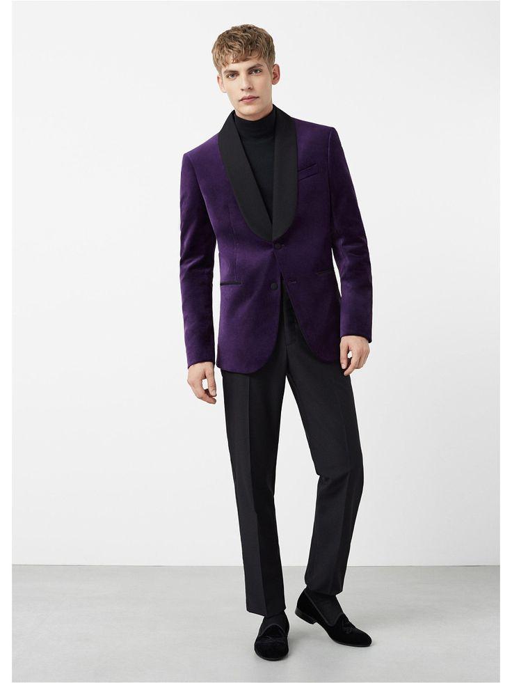 Пиджак - VELVET MANGO MAN. Цвет фиолетовый.