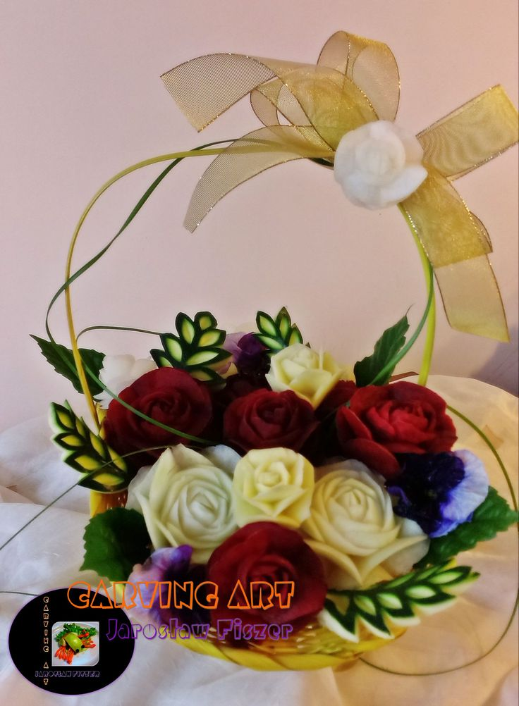 Kwiaty w żółtym koszyku :)