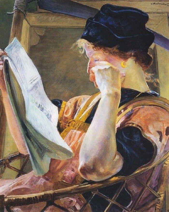 A modelo, s.d. Jacek Malczewski (Polônia, 1854-1929) óleo sobre tela