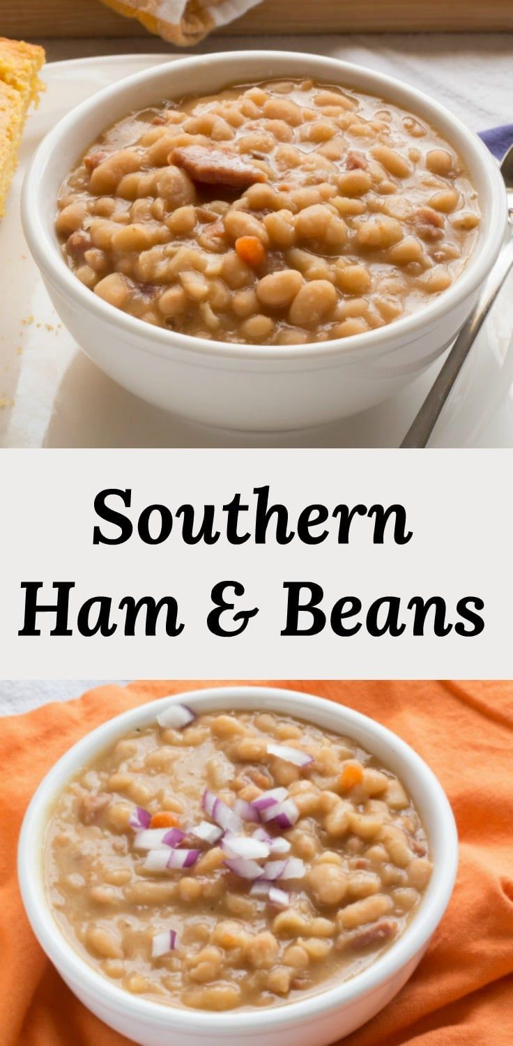 Ham And Beans Is A Delicious Bowl Of Good Old Southern Comfort