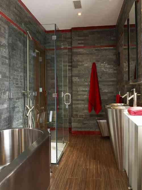 15 best salle de bain images on Pinterest Bathroom, Bathroom ideas - salle de bain ardoise
