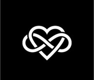 love for infinity- pretty design, kinda makes me think of a twist on a celtic knot