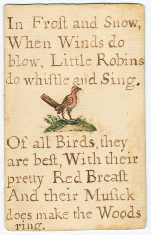 A reading card made by Jane Johnson (1706-1759) for her son, George.