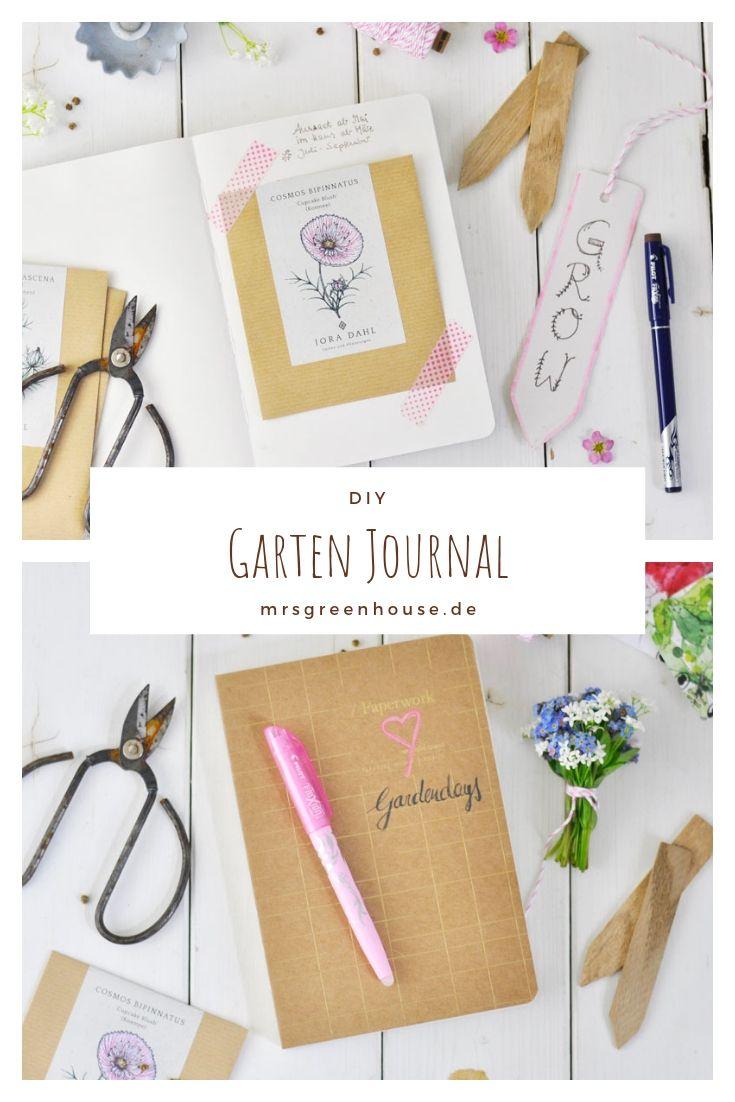 Garten Journal Mit Pflanztipps Und Rezepten Selbstgemacht Pflanzen Gartenbuch Gartenbilder