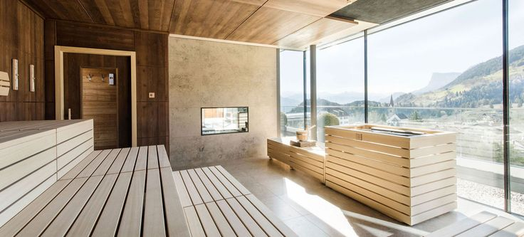 An incredible panoramic view from our Sky Spa Mountain View Sauna