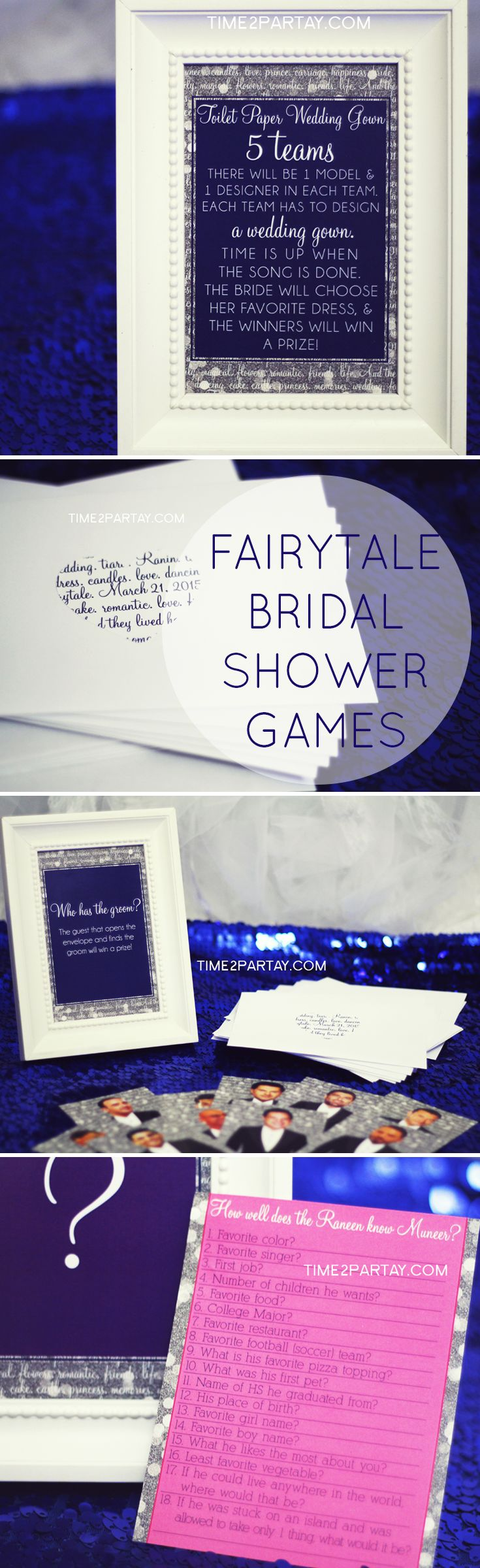 time2partay.blogspot.com Games at a Fairytale Bridal Shower #princess…
