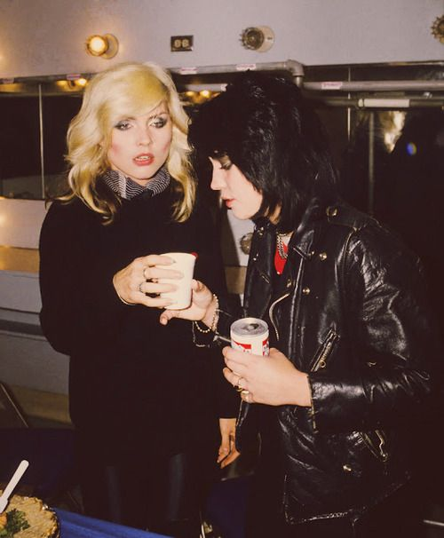 Debbie Harry & Joan Jett::: WHY DO I LIKE THEM BETTER TOGETHER?!? they really should have started a band together!!!