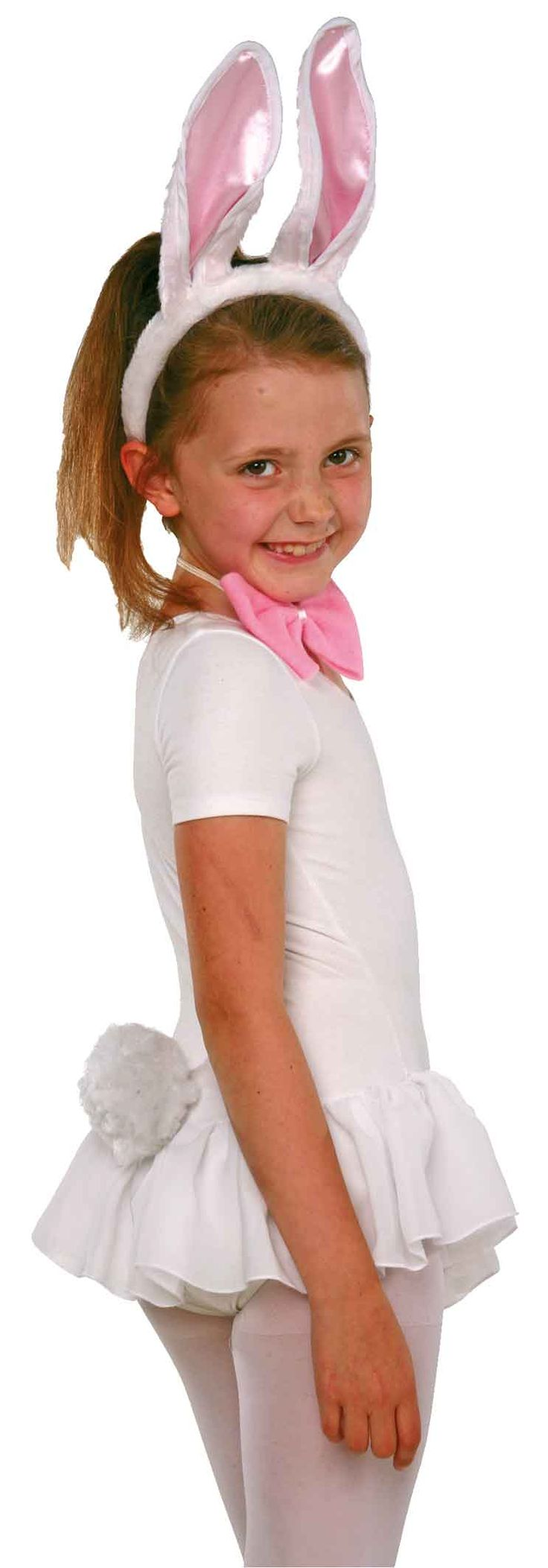 Set van 2, à 3 delen. Deze dierlijke verkleedcostumen mogen in geen assortiment ontbreken! Het 3-delige set bestaat uit een haarhoepel met roze-wit lepels, een bijpassende lus alsook en witte jurk met bloem. Het costuum is geschikt voor meisjes vanaf 4jaar. Ontdekt u nu onze verdere kinderkostuums!