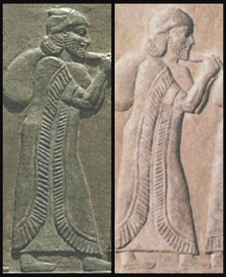 CLOSE-UP Captive ISRAELITES driven Out Of Northern Israel By Assyrian Warriors