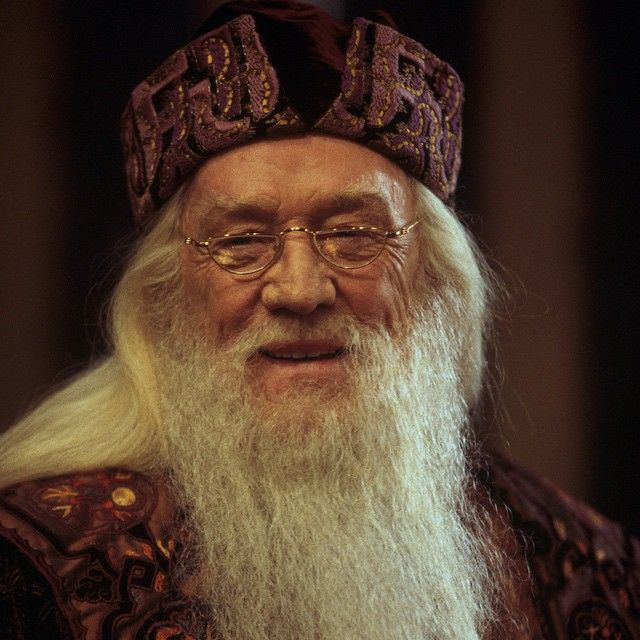 """I was asked about the part of Dumbledore, and I wasn't going to do it for various reasons. Then my granddaughter Ellie telephoned me and said, 'Papa, if you don't play Dumbledore, I will never speak to you again!' So, I didn't have much choice in it."" - Richard Harris #HarryPotter #Dumbledore"