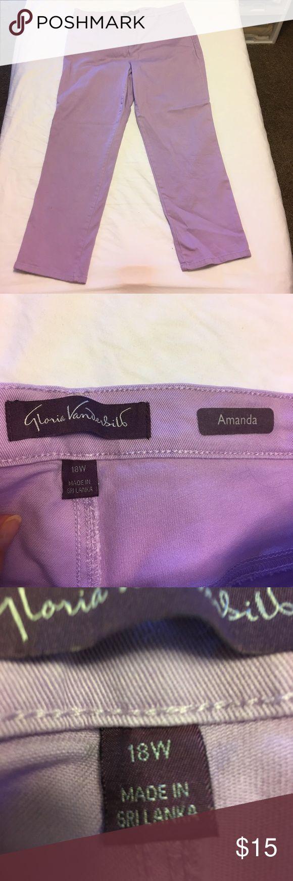 Women's jeans Gloria Vanderbilt women's size 18 light purple jeans Gloria Vanderbilt Jeans