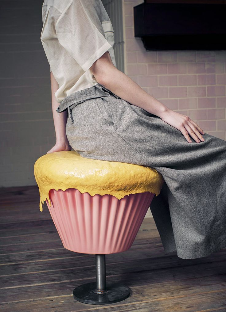 The 'Sweeties' whimsical furniture series is actually constructed from sustainable and functional polyurethane by designer Boggy Chan. The ironic furniture set consists of two giant cupcake stools paired with a massive cookie table. Chan says that the creation of this series was based on the idea of playing with food. The exploration of the sweet treats reveals that furniture and dessert a share a common trait—they create the same feeling of 'comfort.'