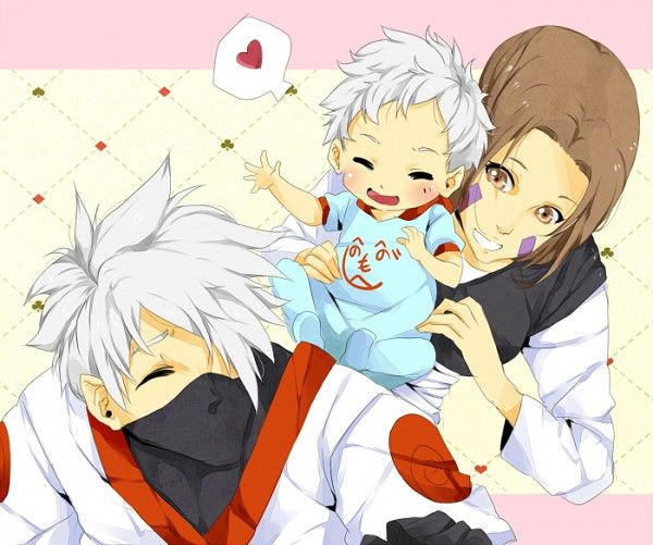 Kakashi And Rin (;_;)too Cute