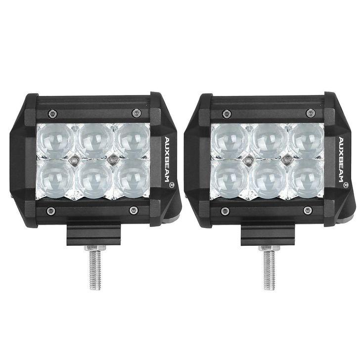 AuxBeam Cree 4-inch 18-watt Spot Beam Offroad Truck LED Light Bar With 5D Projector Lens