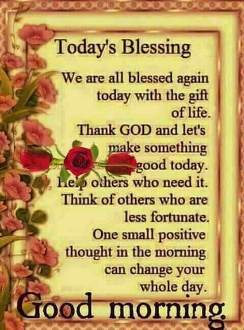 Good Morning Spiritual Blessings Prayer Morning Blessings