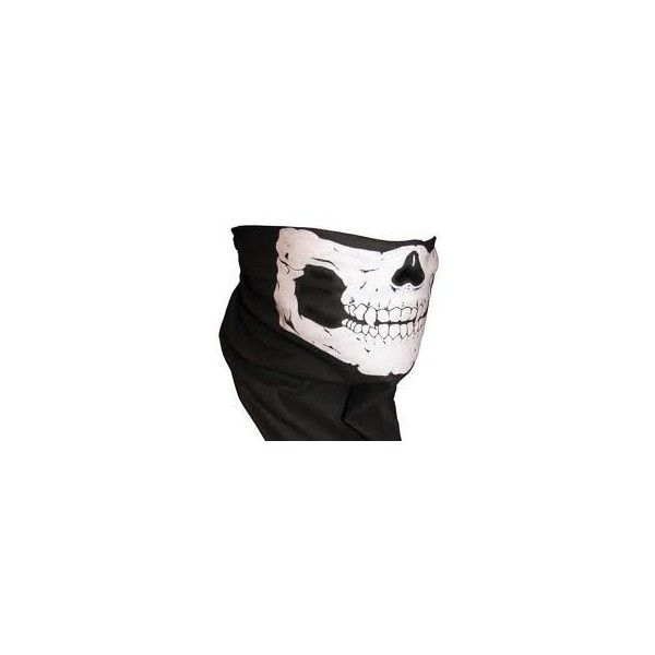 Skull Skeleton Face Mask with Fangs Tube Bandana Balaclava Snowboard... ($2.06) ❤ liked on Polyvore featuring halloween