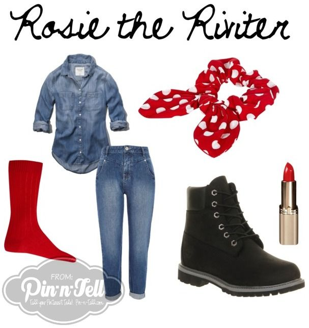 For next year's Halloween!!!! :)     Raid your closet and make your own Halloween Costume: DIY Rosie the Riviter
