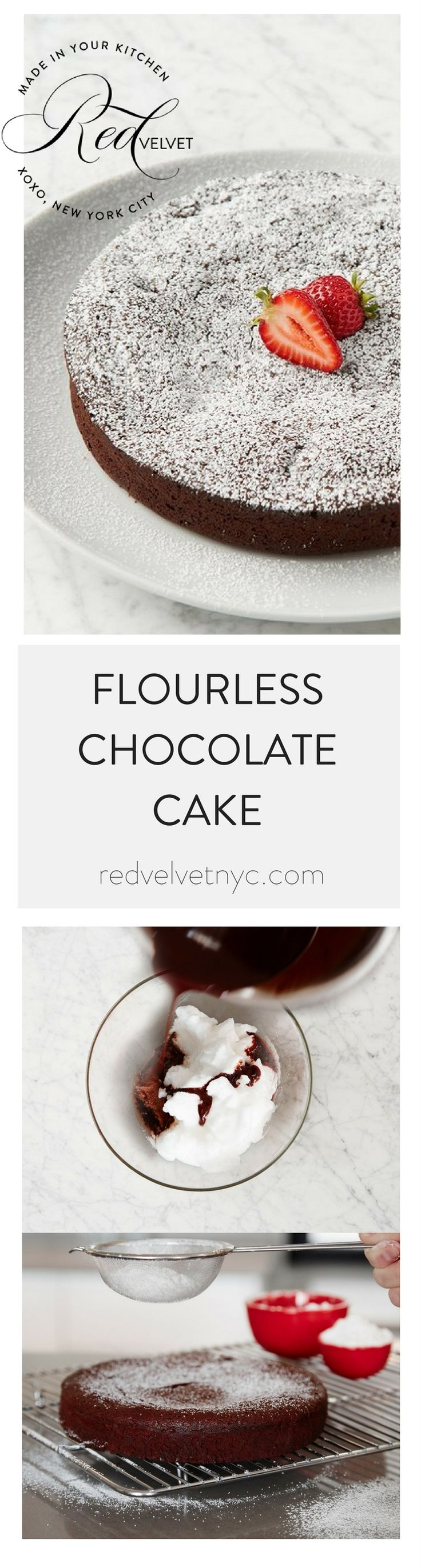 This smooth and creamy brownie-style cake is dense and rich, bursting with intense chocolate flavor. GLUTEN FREE! Since it has no flour, this French cake is 100% gluten free--but still plenty indulgen