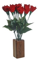 romantic leather flowers for your 3rd anniversary