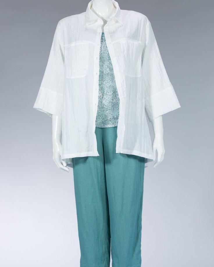 Animale beautiful shirt plain color - turquoise #WomenSkirt #Dress #SummerFashion #Animale #WomenWear #WomenFashion #MotifClothes #LightClothes