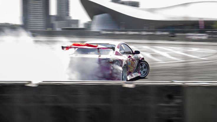Smokin' through the track.