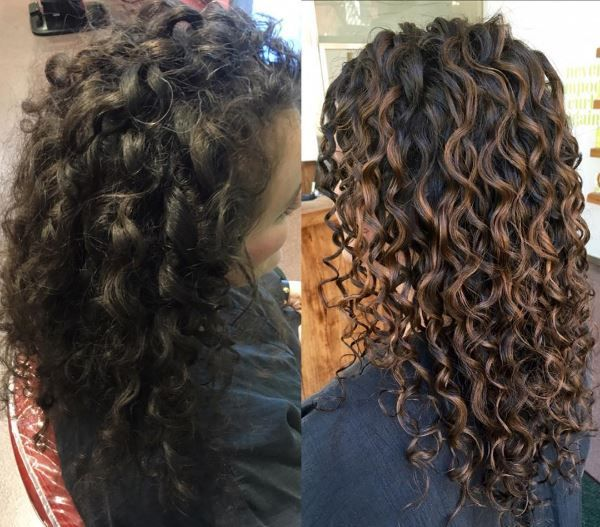 No bleach required! Amazing DevaCut by @mia_Devacurl and beautiful color by @rachael_devacurl who says *We painted soft off the root to allow the color to grow out gracefully.* You can be next :) Book your appointment online today! LINK http://www.devacurl.com/salon.html