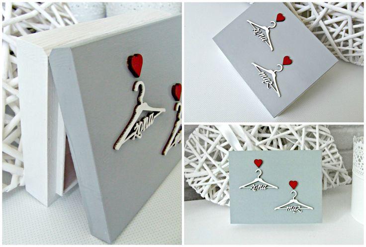 Pełna uroku, romantyczna szkatułka na ślubne obrączki. Eleganckie, ręcznie pomalowane pudełeczko skrywa dwa serduszka...  Do kupienia w sklepie internetowym Madame Allure!