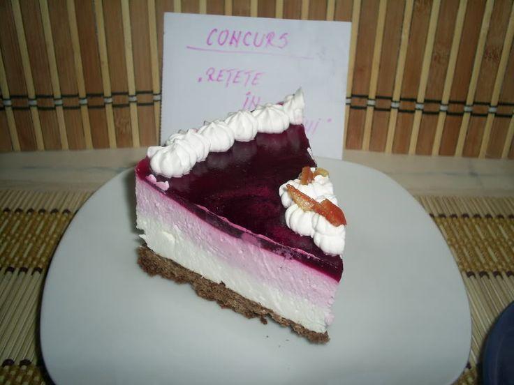 Arome si culori : Cheesecake cu fructe de padure