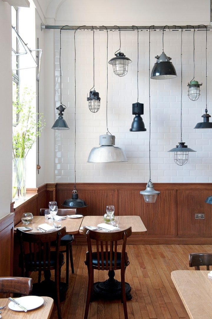 White tiled walls, hardwood flooring and pendant lampshades - does The Town Hall Hotel in Bethnal Green have the coolest hotel restaurant in east London?
